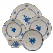 Chinese Bouquet Blue 5 Piece Place Setting