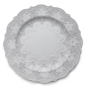 Arte Italica Merletto White Dinner Plates - Set 12