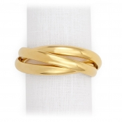 L'Objet Three Ring Napkin Jewels / Set 4 - Gold