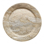 Firenze Marbleized Cappucino Charger/Server Plate