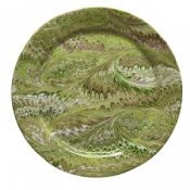 Firenze Marbleized Pistachio Charger/Server Plate