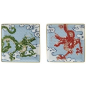 Constellation Dragon Small Tray (Set Of 2 In A Gift Box)