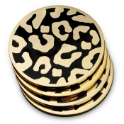 L'Objet Leopard Coasters - Set of 4