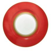 Cristobal Coral Dinner Plate - Wide Band*