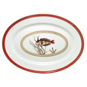 Cristobal Coral Oval Platter  Fish