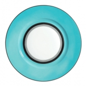 Cristobal Turquoise Dinner Plate - Wide Band *