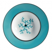 Cristobal Turquoise Rim Soup Plate