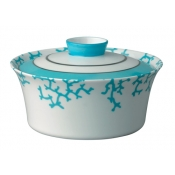 Cristobal Turquoise Chinese Covered Vegetable Dish