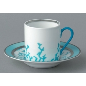Cristobal Turquoise Coffee Saucer