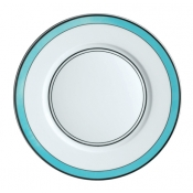Cristobal Turquoise Dinner Plate - Small Band