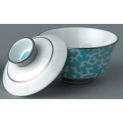 Cristobal Turquoise Chinese Tea Cup & Saucer
