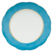 Silk Ribbon Service Plate - Turquoise