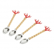 L'Objet Coral Coral Cocktail Spoons (Set of 4)
