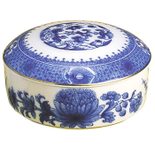 Mottahedeh Imperial Blue Covered Box, Large