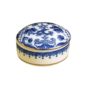 Mottahedeh Imperial Blue Covered Box, Small
