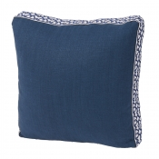 Lacefield Navy Linen Pillow - 18 x 18