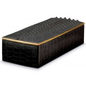 L'Objet Crocodile Box / Black