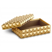 L'Objet Pyramide Rectangular Box - Gold - Small
