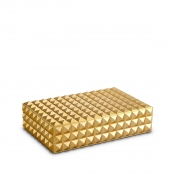 L'Objet Pyramide Rectangular Box - Gold - Medium