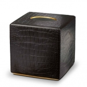 L'Objet Crocodile Gold Tissue Box