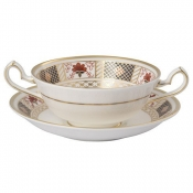 Derby Border Cream Soup Cup Stand