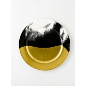Equus - Black & Gold Equine Plate - Horse Belly