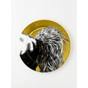 Equus - Black & Gold Equine Plate - Horse Tail