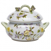 Royal Garden Soup Tureen w/ Butterfly Knob