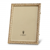 L'Objet Deco Twist Frame - Gold + White Crystals - 8 x 10