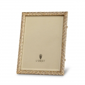 L'Objet Deco Twist Frame - Gold + White Crystals - 5 x 7