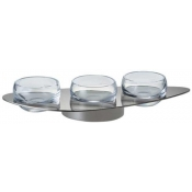 Ercuis Nuages Silver Plate Holder for 3 Small Bowls