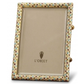 L'Objet Rectangular Pave Frames Gold + Multi-Color Crystals - 5 x 7""