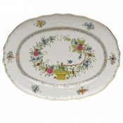 "Indian Basket PLATTER - 15""L X 11.5""W"