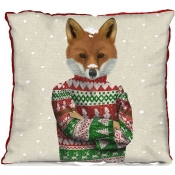 Fab Funky Fox in Sweater Pillow