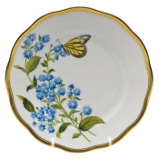 "American Wildflower - Blue Wood Aster BREAD & BUTTER PLATE  6""D - Blue Wood Aster"