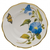 "American Wildflower - Morning Glory SALAD PLATE  7.5""D - Morning Glory"