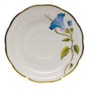 "American Wildflower - Morning Glory TEA SAUCER  6""D - Morning Glory"