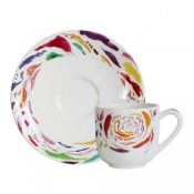 Gien Passion Demitasse Cups (Only) - Set 6