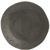 Arte Italica Graffiata Dinner Plate - Grey