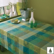 "Mille Couleurs Lime Tablecloth - 71"" X 118"""