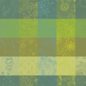 "Mille Couleurs Lime Napkin - 22"" x 22"" / Set 4"