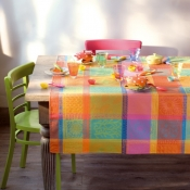 "Mille Wax Creole Tablecloth - 71"" Round"