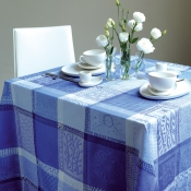 "Mille Wax Ocean Tablecloth - 69"" Round"
