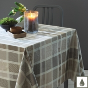 "Mille Ladies Argile Tablecloth - 71"" X 118"""