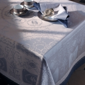 "Bagatele Flannele Tablecloth - 68"" X 143"""