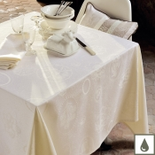 "Mille Eclats Chocolate Blanc Tablecloth - 69"" Round"