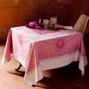 "Eugenie Candy Tablecloth - 69"" X 69"""
