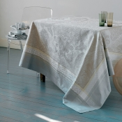 "Isaphire Platine Tablecloth - 69""X100"""