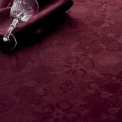 "Mille Datcha Aubergine Tablecloth - 69"" Round"