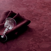 "Mille Datcha Aubergine Tablecloth - 91"" X 91"""